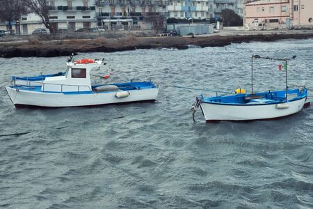 Fishermens boats in Southern Italy.