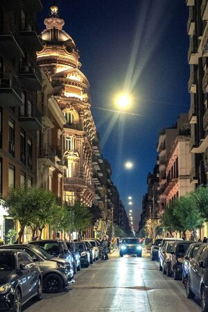 Street of Bari at night.