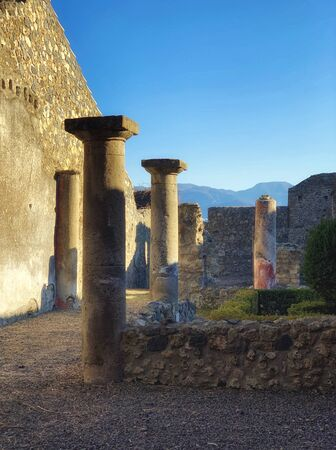 Ruins of famous Pompeii city, Italy Banque d'images
