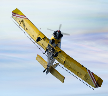 duster: Crop Duster Aircraft spraying