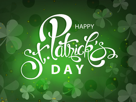 Happy St Patricks Day greeting card template design