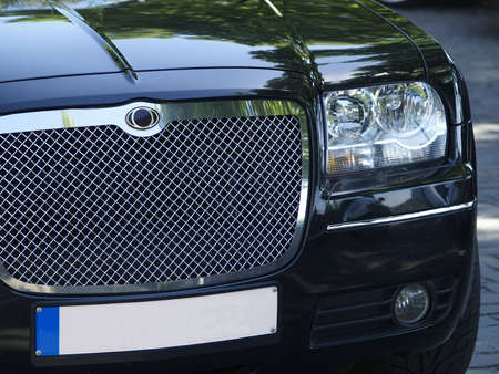Front detail of  limousine
