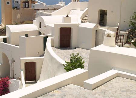 Wonderful sunny view on Santorini, Greece