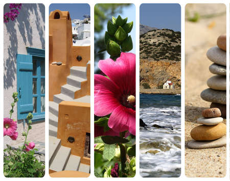 Collage made with beautiful image from Greece
