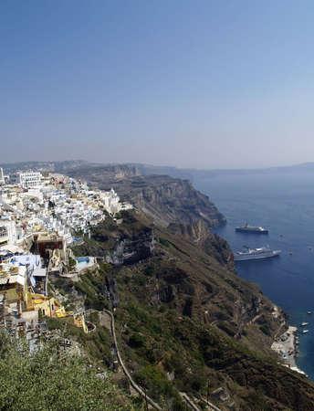 Santorini - caldera wonderful view, Greece  photo