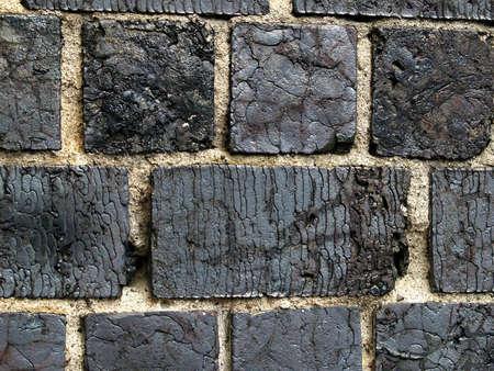 made in finland: Wall made of slag bricks, Fiskars Finland Stock Photo