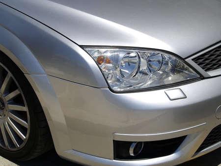 Silver car with elegance body