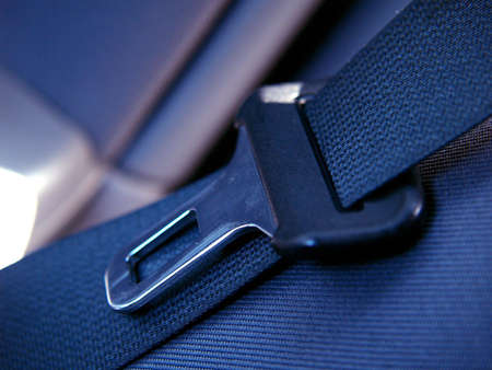 safety belt: Opened safety belt on the seat