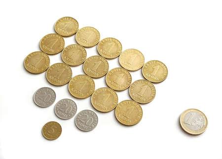 estonian: Rate of estonian krones to the euro