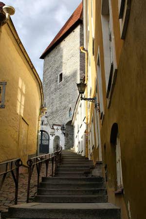 Old Town street (Luhike jalg street), Tallinn, Estonia