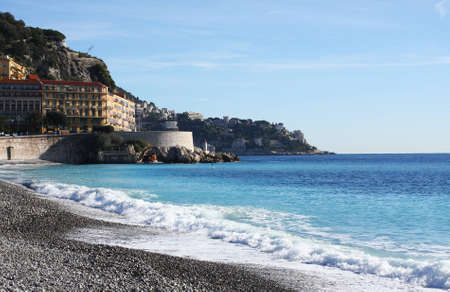 View of Nice city and beach