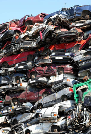 scrap heap: Cars junkyard