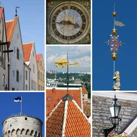 Tallinn collage Stock Photo