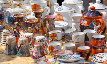 Сeramic ware for sale. Tallinn, Estonia Stock Photo - 9483452