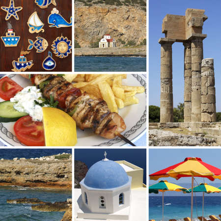 Travel in Greece - vacation, collage Stock Photo