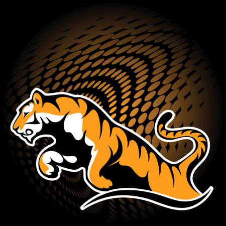 Tigre en saut