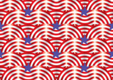 American flag, designed using elements Illustration