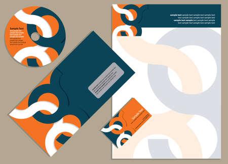 Corporate identity design,  Vector