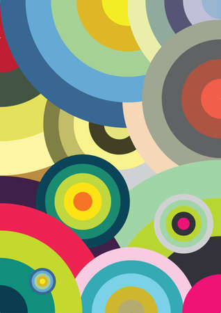psychedelic background: Multicolored circles Illustration