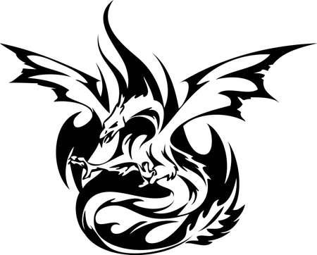Fiery Phoenix Vector