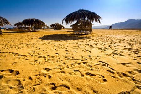 Mer rouge de plage. Egypte. Sina�. Taba Banque d'images