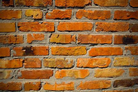 vieux mur de brique fissur� Banque d'images