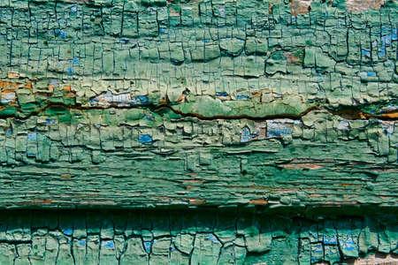 Panneaux en bois avec de la peinture craquel�e