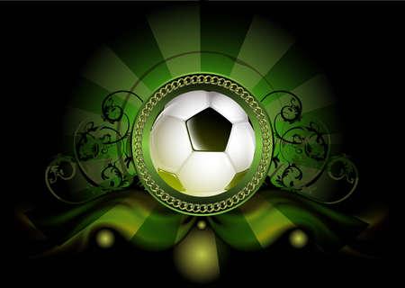 Soccer ball on grunge background, element for design Illustration