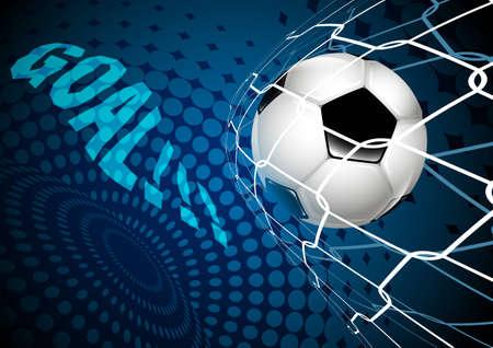 ballon de soccer a vol� dans le filet vide. objectif