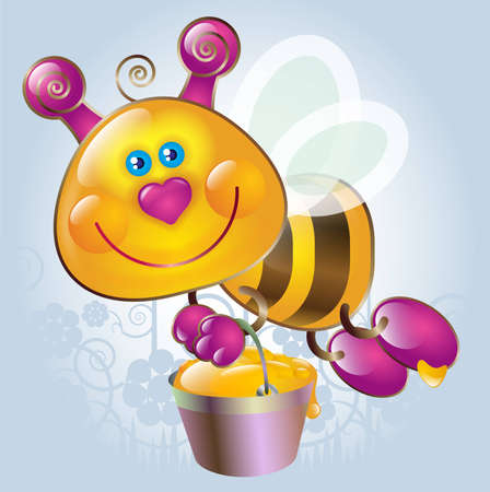 Cartoon little Bee Stock Vector - 8254870