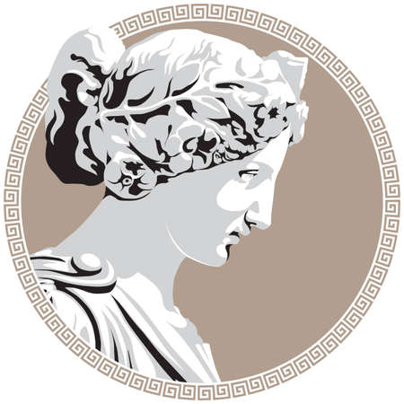 greek gods: Ancient goddess Illustration