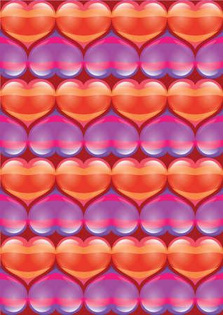 R�sum� brillant �clatant arri�re-plan de coeur. La Saint Valentin. Illustration