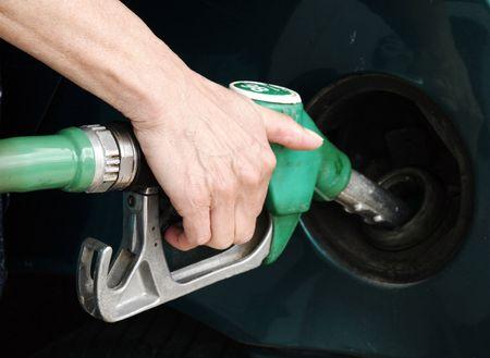 pistol gasoline Stock Photo
