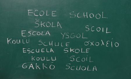 multilingual: multilingual school Stock Photo