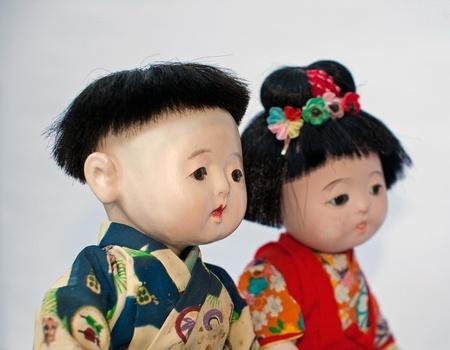 japanese children: Couple of Japanese children  (ancient dolls)