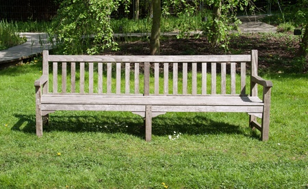 absenteeism: empty bench waiting for someone