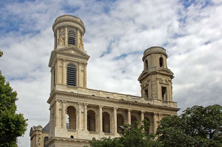 church of St Sulpice in Paris France photo