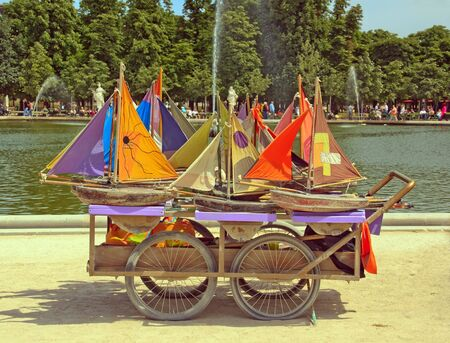 boats, wooden toys, the pool of Luxembourg (Paris France) photo