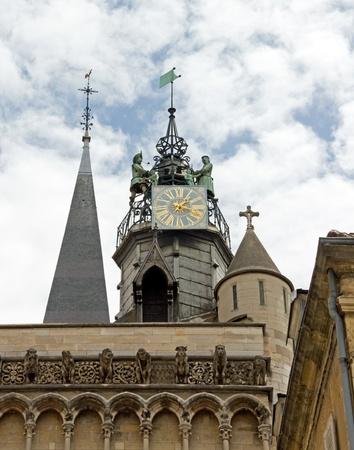 ジャックマールと彼の家族 (ノートルダム大聖堂ディジョン フランス) 写真素材