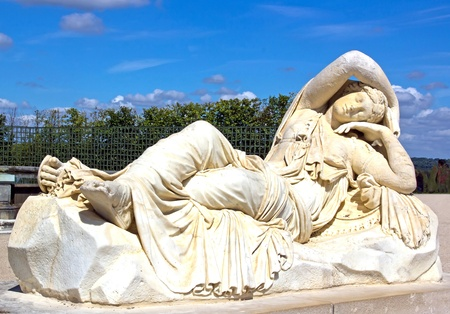17th: statue of the sleeping Ariane (by Van Cleve 17th) Stock Photo