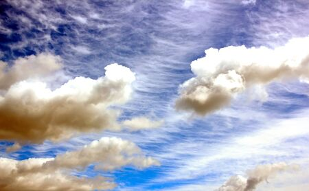 tormented: tormented and threatening sky, shades of blue