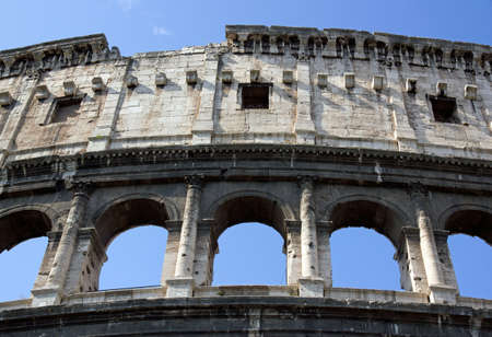 bleachers of the colosseum of Rome (Italy) Stock Photo