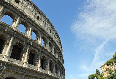 arcades of the Coliseum (Rome Italy) photo