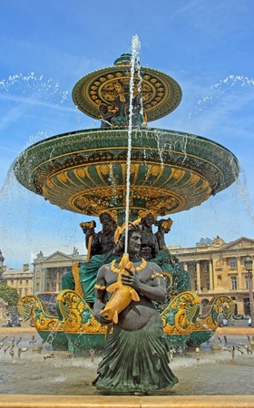 fountain Place de la Concorde in Paris (France) Stock Photo - 11301407