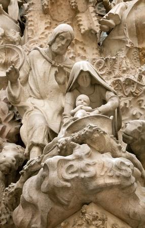 heilige familie: Jesus und die Heilige Familie, Sagrada Familia (Barcelona Spanien Europa)
