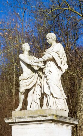 male friendship, ancient statue depicting two men having affection for one another Stock Photo - 12050051