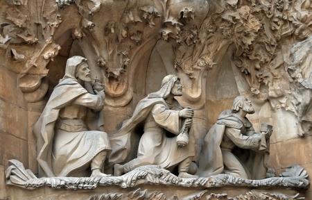gaspard: Adoration of the Magi, Sagrada Familia, Barcelona, Spain Editorial