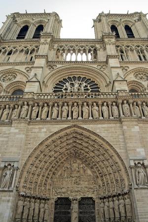 Notre-Dame de Paris, monumental portico  Paris France