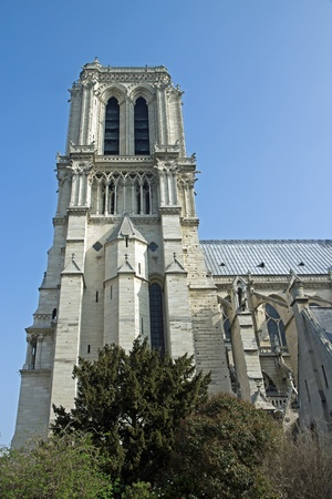 Notre-Dame de Paris, the north face three buttresses  Paris France  photo