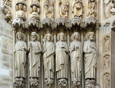 the apostles, the Last Judgment portal, Notre Dame de Paris   photo